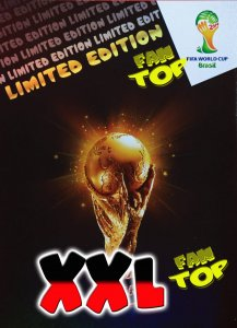 XXL Big card - PUCHAR - TROPHY  Limited Edition - FIFA BRAZIL WORLD CUP 2014   Brasil