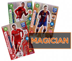 18 cards full set  MAGICIAN  -  UPDATE Fifa 365 2021