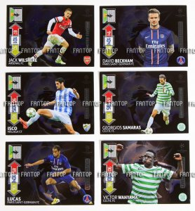 UPDATE set 6 cards -  Limited Edition cards Panini Adrenalyn Champions League 2012-2013