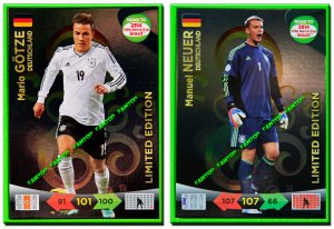 GOTZE + NEUER  LIMITED EDITION - Road to 2014 FIFA BRAZIL