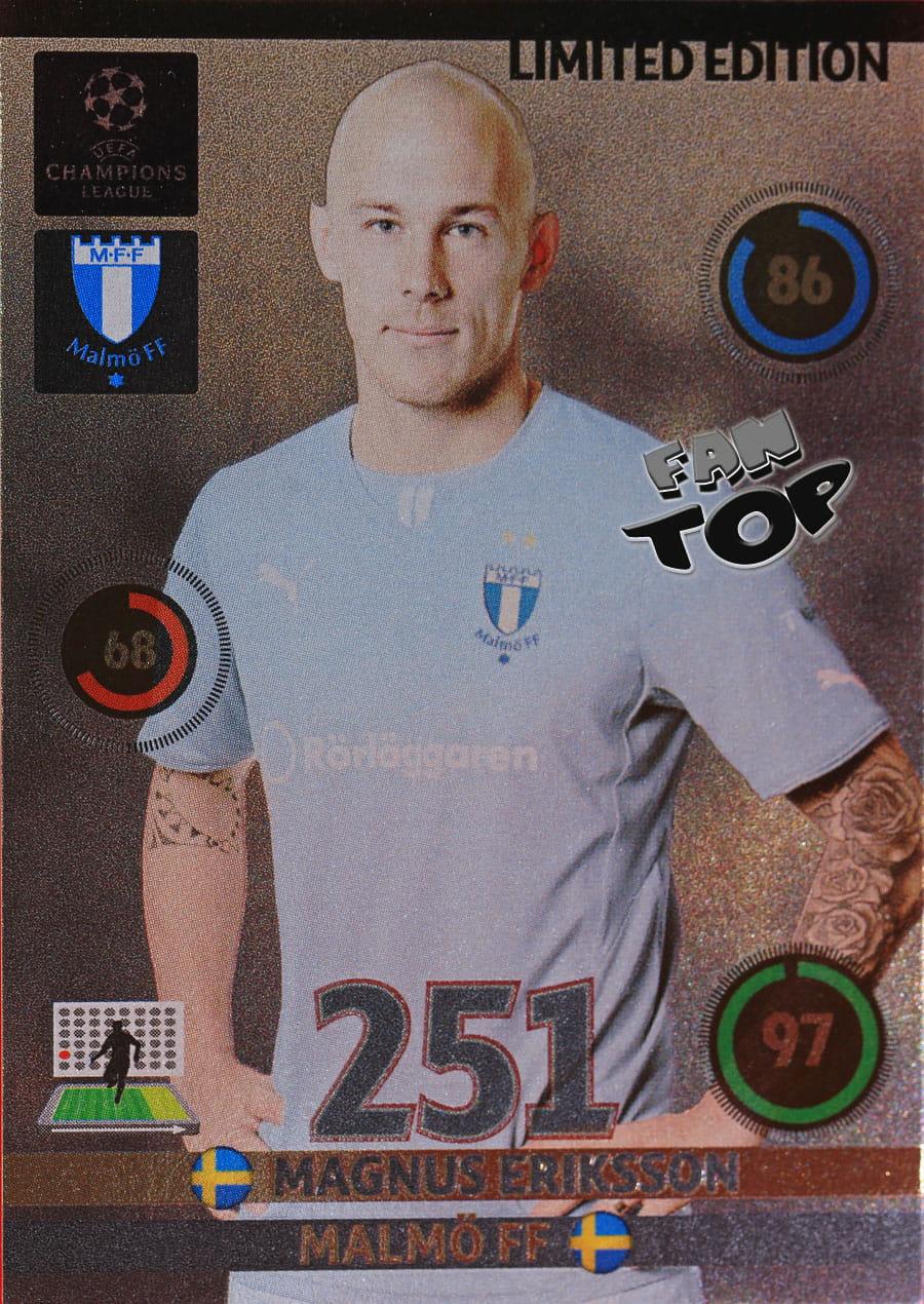101 Magnus Eriksson Malmo FF no Panini Liga de Campeones 2014//15